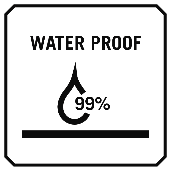 99% waterproof